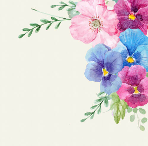 colorful vintage flowers