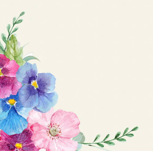 colorful vintage flowers