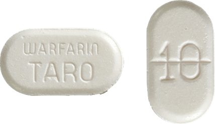 Warfarin Tablet 10 milligrams White