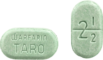 Warfarin Tablet 2.5 milligrams Green