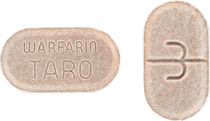 Warfarin Tablet 3 milligrams Tan
