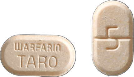 Warfarin Tablet 5 milligrams Peach