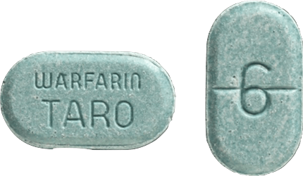 Warfarin Tablet 6 milligrams Teal