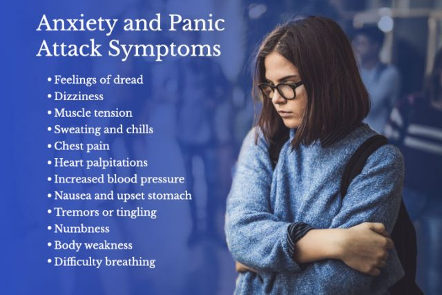 List of Anxiety and Panic Attack Symptoms