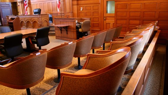 Courtroom jury stand