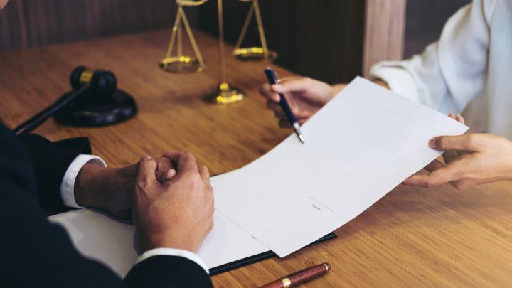 Judge looking over document