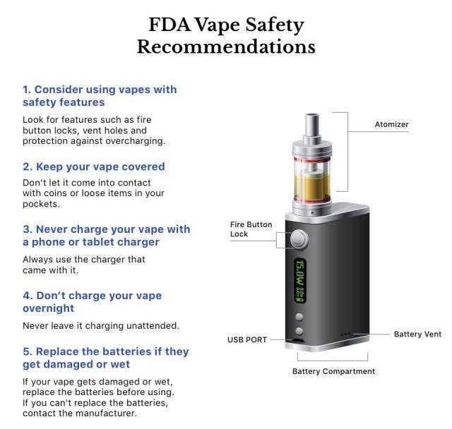 Vape Safety Infographic