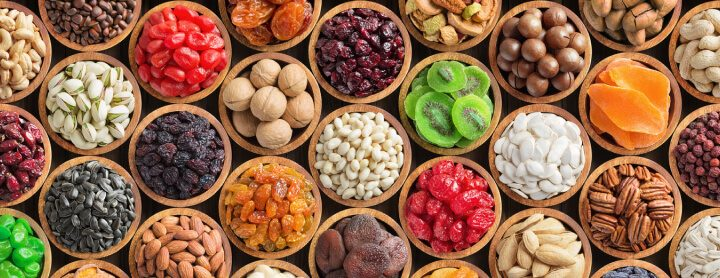 Variety of healthy foods