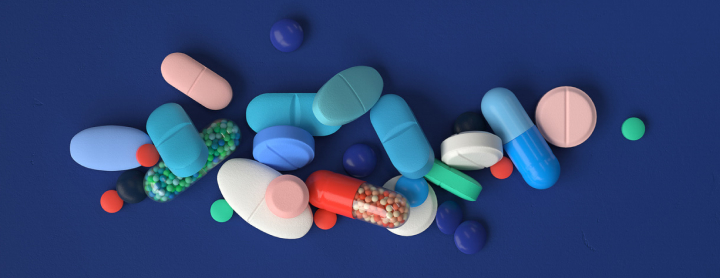 Various pills layed out