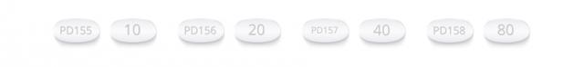 Lipitor Dosage 10 mg, 20 mg, 40 mg and 80 mg.