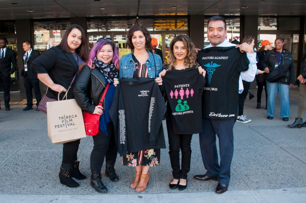 Michelle Llamas with Tribeca Film Festival attendees