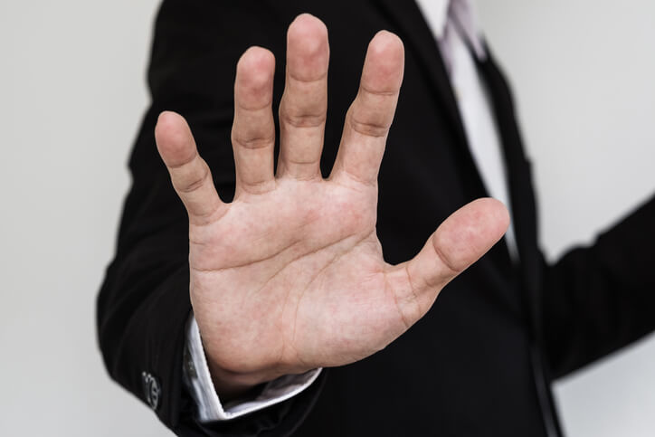 Person showing their palm