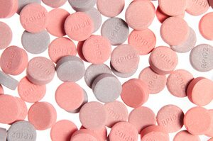 pink and purple antacids