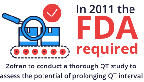 In 2011 the FDA required Zofran to conduct a QT heart defect study