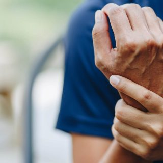 Person with pain in wrist