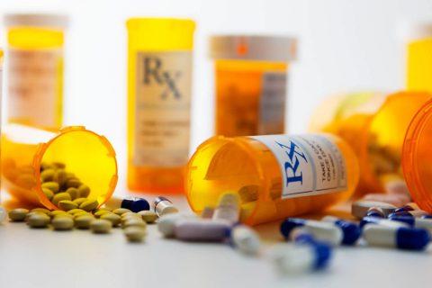 Various pill bottles