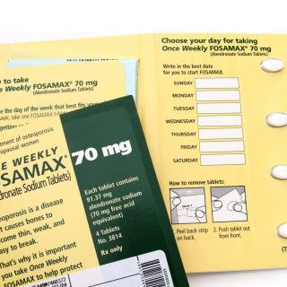 Fosamax pill package by Merck