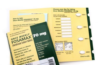 Fosamax pill package by Merck