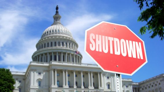 government shutdown US capital building