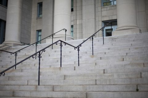 Stairs leading to court house