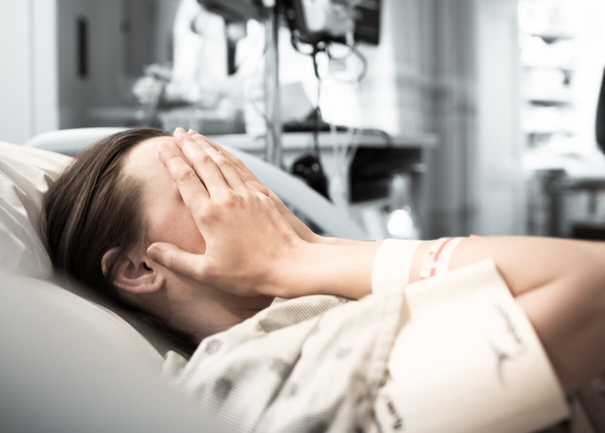 woman patient in hospital