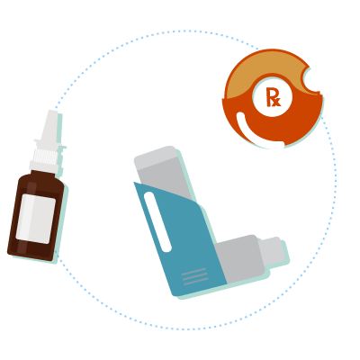 Various inhalant devices