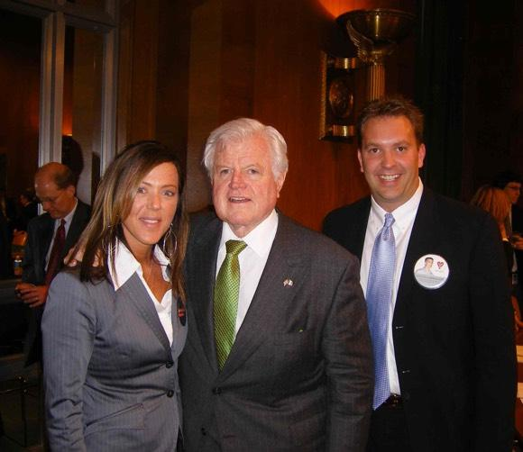 Kim Witczak with her brother-in-law and the late Sen. Ted Kennedy