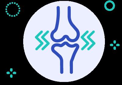Wobbly sensation knee icon