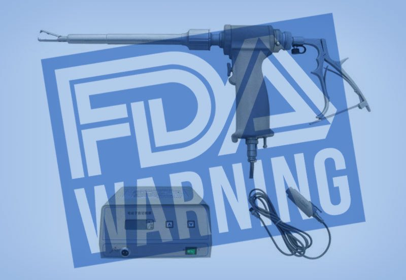 Power Morcellator parts with FDA warning