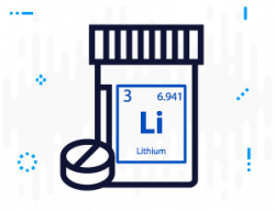 Lithium pills icon
