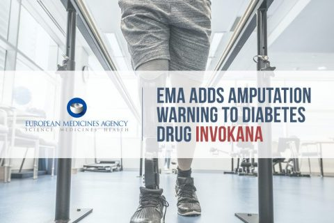 man with amputated leg. text reads: EMA adds amputation warning to diabetes drug invokana.