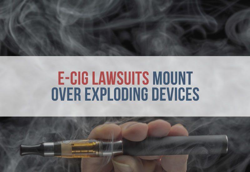 e-cig with vapor