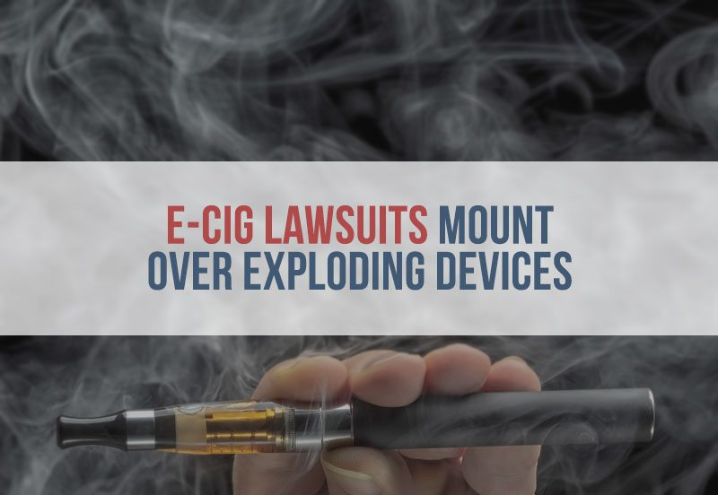 E-Cig Lawsuits Mount Over Exploding Devices