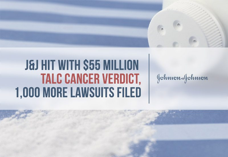J Amp J Hit With 55m Talc Cancer Verdict Amp 1 000 Lawsuits