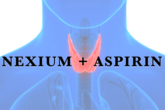 Nexium and Aspirin throat cancer graphic