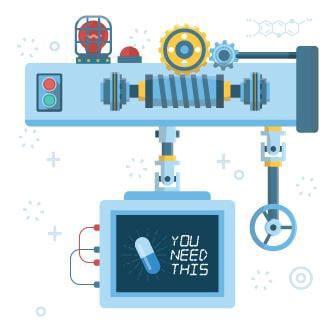 Pharma Machine Illustration