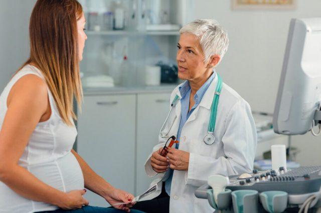 Pregnant Woman Getting a Checkup