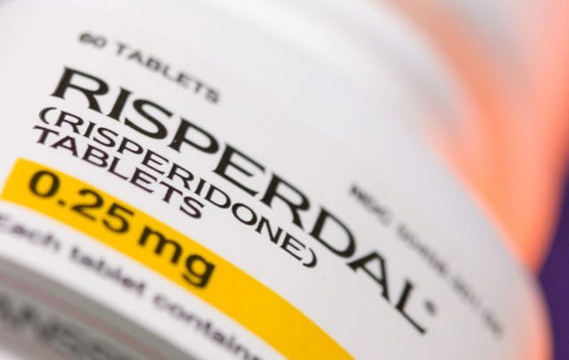 Prescription bottle of Risperdal