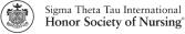 Sigma Theta Tau International Honor Society of Nursing Logo