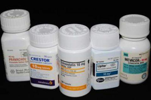 Lipitor, Crestor an other Statin drug bottles