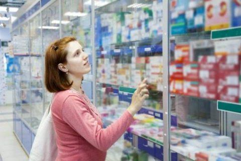 woman shopping in pharmacy