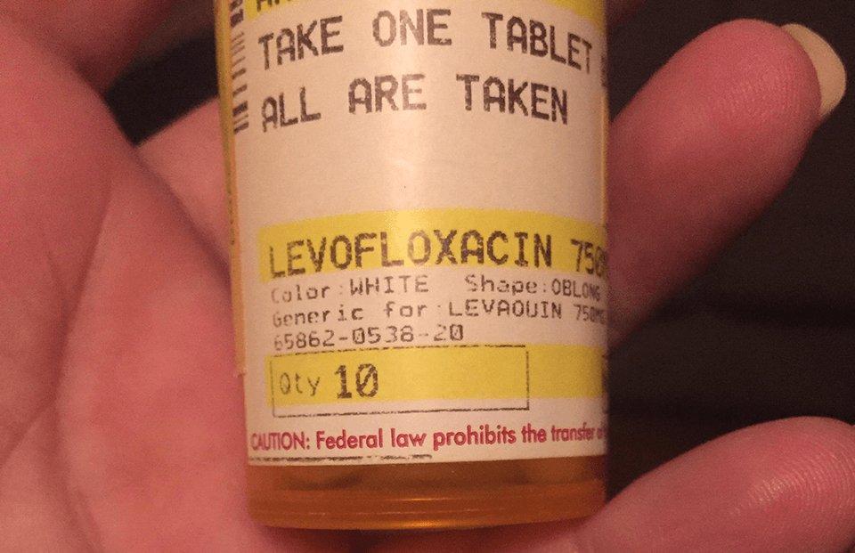 Levaquin prescription bottle