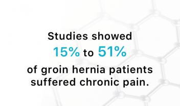 Study results of polypropylene hernia mesh and chronic pain.