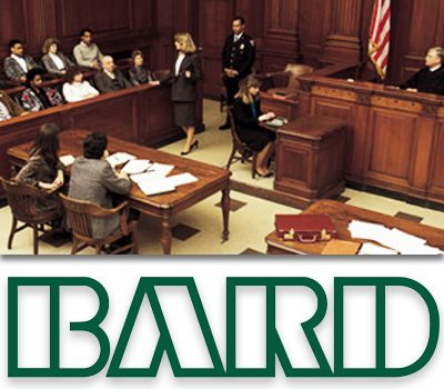court in session with the bard logo underneath