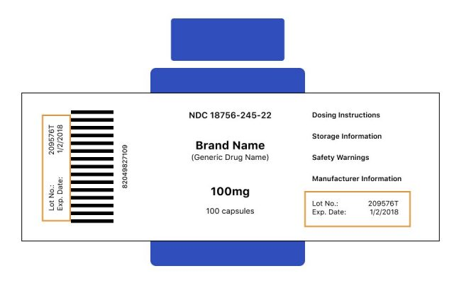 Where to find a lot number on a pill bottle