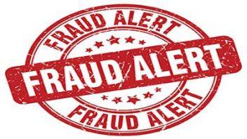 Fraud alert emblem