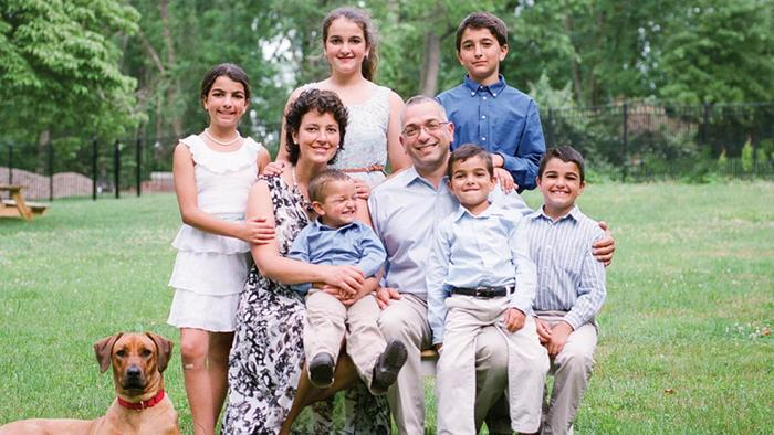 Dr Amy Reed and her family