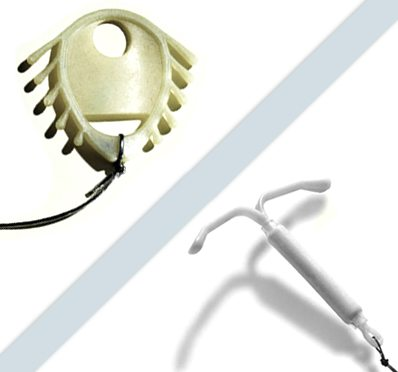 Mirena IUD and Dalkon Shield devices