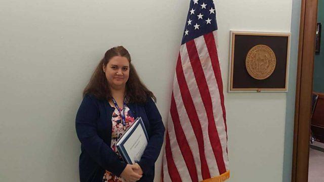 Rachel Brummert at Congress meeting