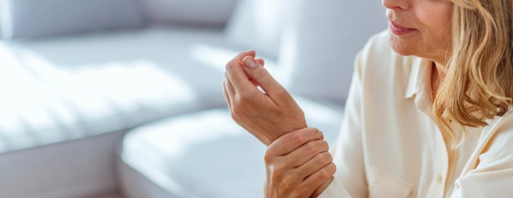 Woman with arthritis in her wrist